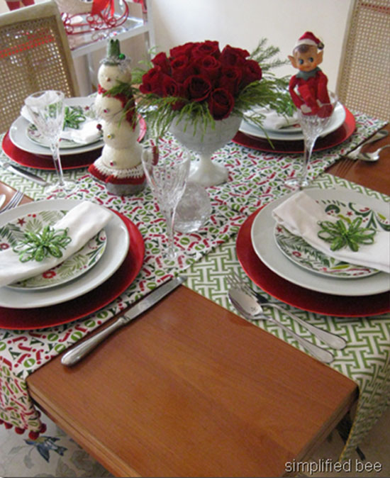 Fun Christmas Table Decorations: Christmas Table Ideas: Decorating With Red And Green
