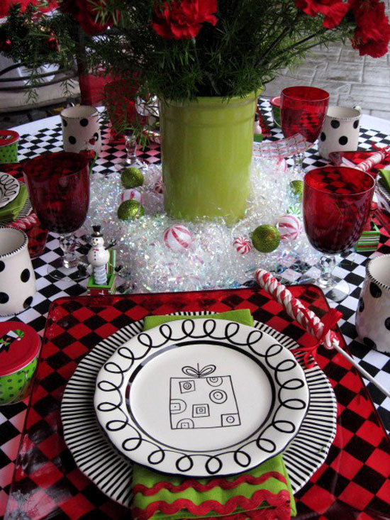 Christmas table ideas decorating with red and green - Interesting tables capes for christmas providing cozy gathering space ...
