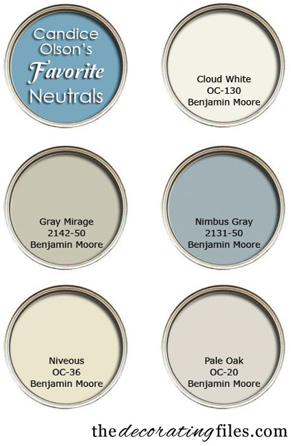 Choosing Paint Color: Candice Olson's Favorite Neutrals