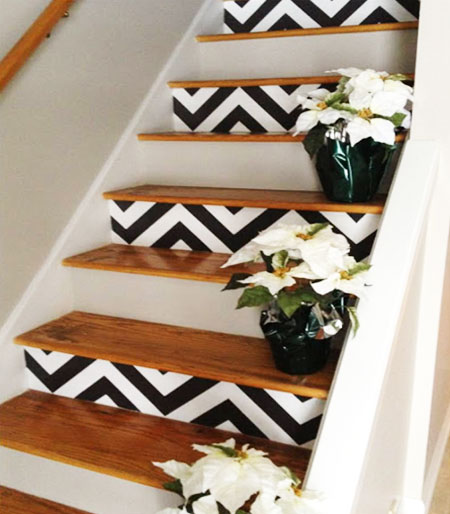 Decorating ideas for stair walls
