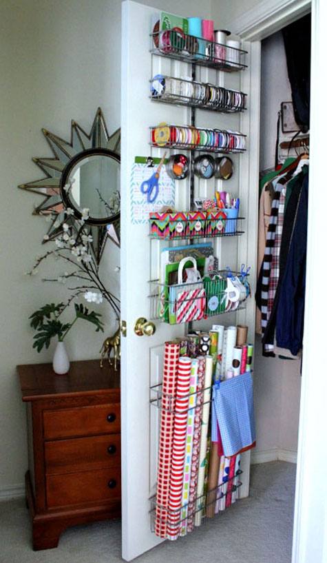gift wrap organization ideas inspiration