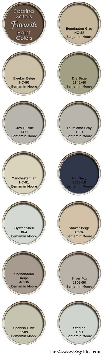 Choosing Paint Color: A list of designer Sabrina Soto's favorite paint colors
