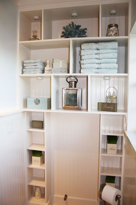 Small space storage 15 creative fun ideas for Bathroom shelving ideas for small spaces