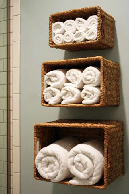 Decorative Bathroom Towel Storage : Bathroom towel storage quick creative inexpensive ideas