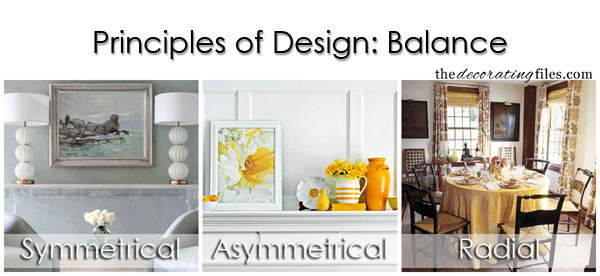 Principles of Design: Balance. One of the basic decorating principles that helps you decorate like a pro.