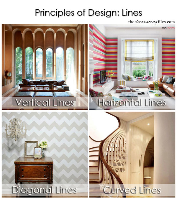 Principles of Design: Lines. One of the basic decorating principles that helps you decorate like a pro.