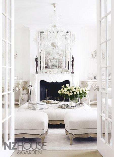All white rooms decorating with the color white for White interior design living room
