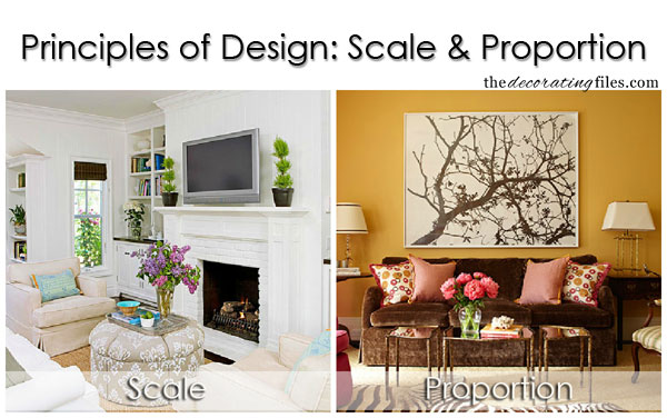 Principles of Design: Scale & Proportion. One of the basic decorating principles that helps you decorate like a pro.