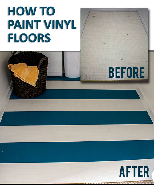 Diy paint projects cheap decorating ideas on thrifty for Can you paint over linoleum floors
