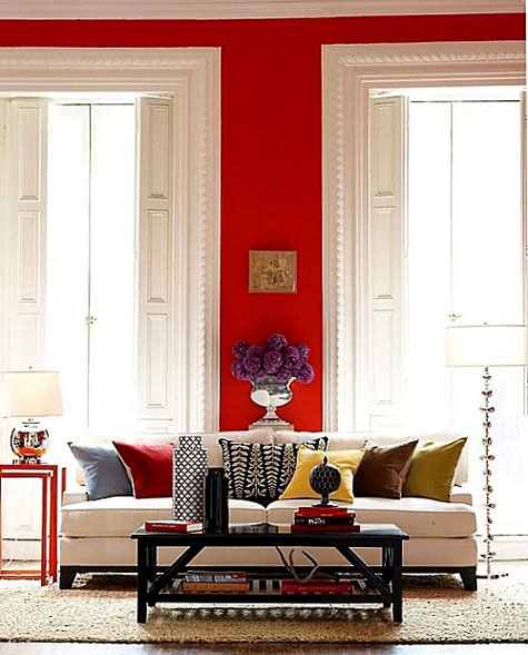 Red Room Wall Decor : A red room decorating with the color