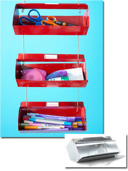 Craft Storage Ideas: Hanging Caddy