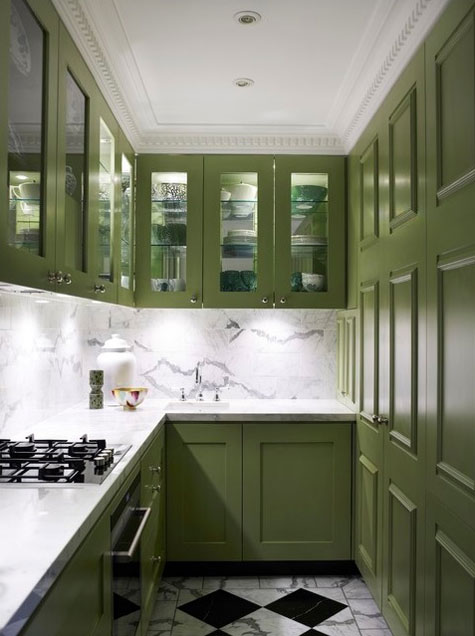 Cabinet paint colors 7 colorful choices for the kitchen for Kitchen cabinets green
