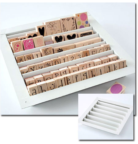 Craft Storage Ideas: Louver StampTray