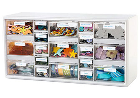 Craft Storage Ideas: Storage Cabinet for Small Supplies