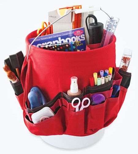 Craft Storage Ideas: Tool Bucket Tote