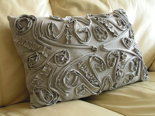 diy pillow ideas the beautiful design on this pillow was made from an old t