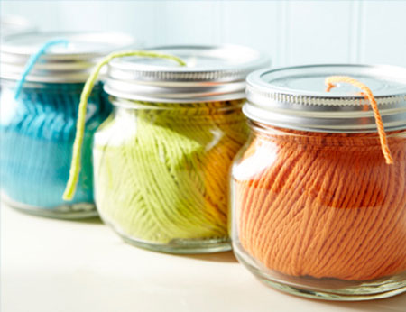 Craft Storage Ideas: Yarn & Ribbon Dispenser