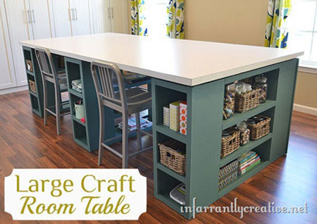 Craft table 5 creative ways to make your own Diy counter height craft table