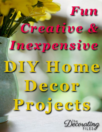 Decorate your home with these easy-to-do DIY home decor projects. Find out how to make vibrant vases, whimsical coasters, a colorful serving tray and more!