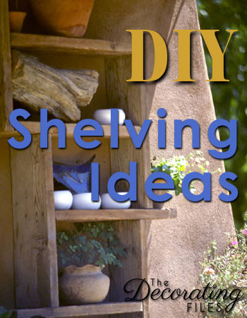 DIY Shelving Ideas: Creating extra storage or display space is easy with these creative DIY shelving ideas. Not only are they easy to make, but they're also easy on the budget.