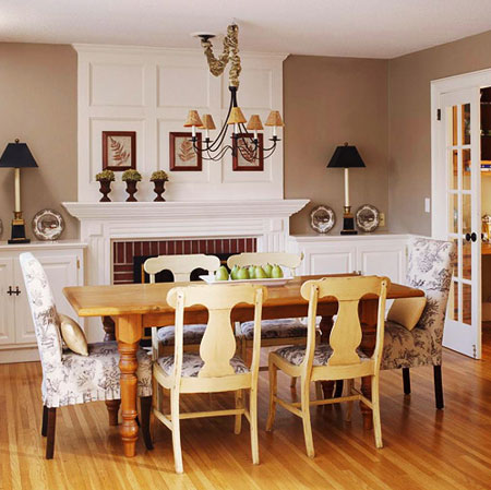 Room Decorating Ideas: The Dining Room - The fireplace in this