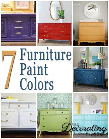 Furniture Paint Colors 7 Fabulous Selections