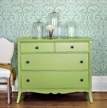 Furniture Paint Colors: Benjamin Mooreu0027s Spring Meadow Green Turned An Old  Flea Market Find Into