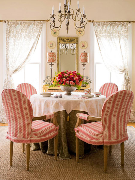 5 dining room decorating ideas for Traditional dining room decorating photos