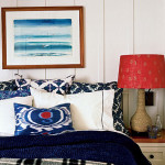 Decorating with Color: Red, White and Blue - Batik prints in red, white and blue in an island style bedroom.