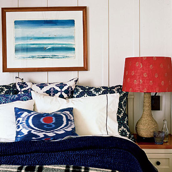 Decorating With Color: Red, White And Blue   Batik Prints In Red, White