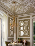 CEILING 5 - http://www.homeportfolio.com/Designers/Room/9661 Ceilings: French Versailles meets French Deco in this dining room and living room with a ceiling done with a Ken Moffit Stencil.