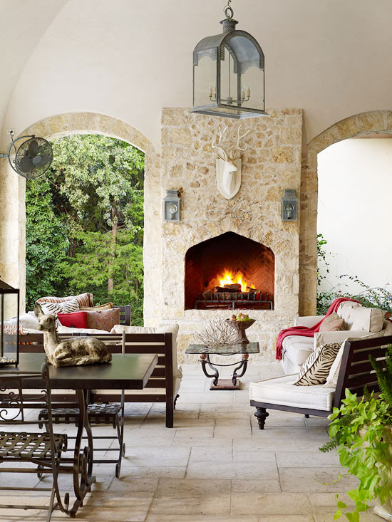 Porch decorating ideas creating a fabulous space - Covered porch house plans space for the family ...
