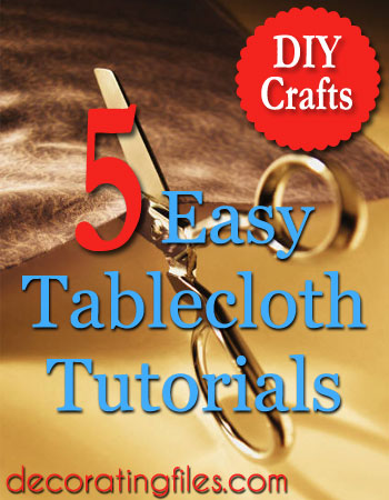 Dress up your dining room table with some DIY crafts! Here are five easy-to-make tablecloth ideas that you can use for everyday or those special occasions.