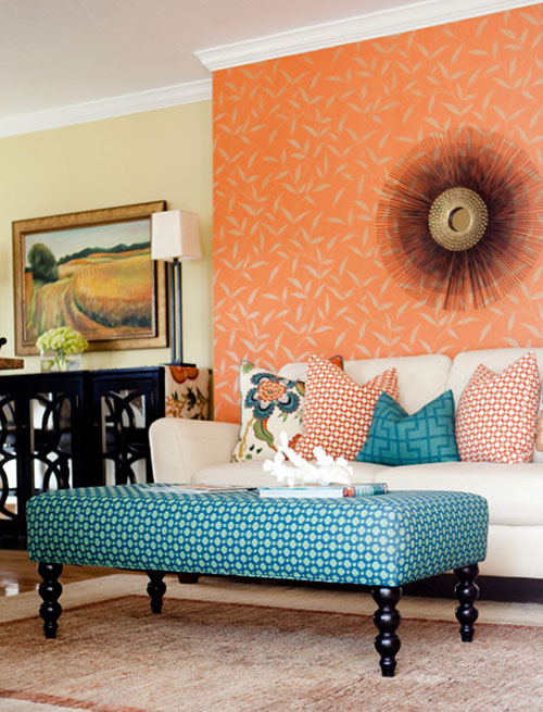 Gallery For Teal And Orange Living Room Decor