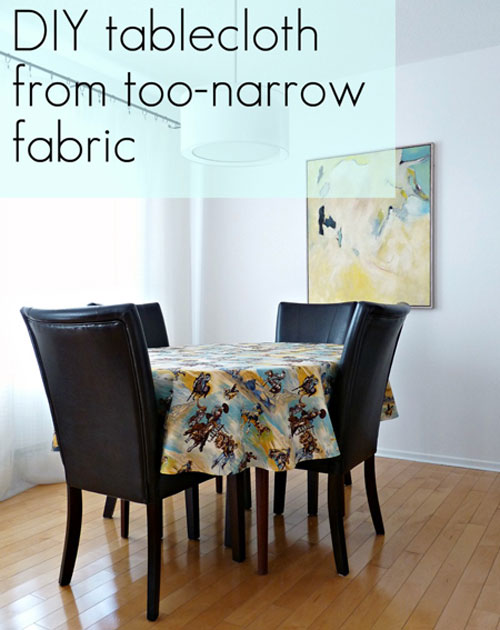 DIY Crafts: Make Your Own Tablecloth – Have you ever had lots of beautiful fabric, but felt it was just too narrow to make a tablecloth? That's no longer a problem! With a few easy cuts, you can turn that narrow fabric into the tablecloth you want it to be. Narrow Fabric Tablecloth Tutorial