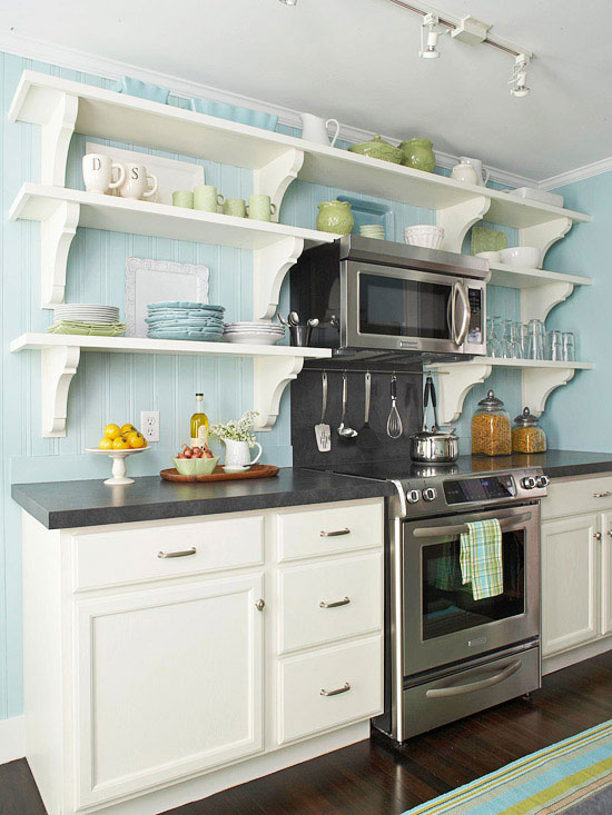 Open kitchen shelving tips and inspiration for Shelving in kitchen