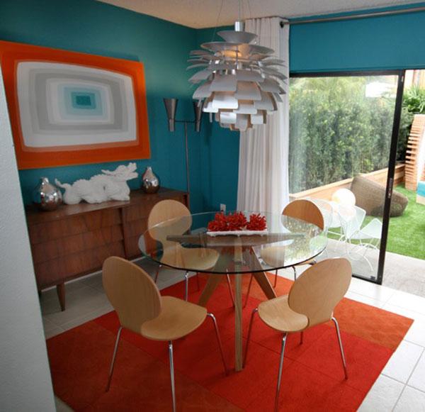 David bromstad talks about color color color - Orange and teal decor ...