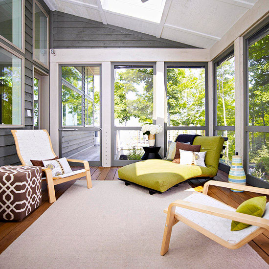 Porch decorating ideas creating a fabulous space Comfortable sunroom furniture