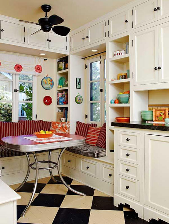 Breakfast nooks design tips and inspiration - Kitchen table small space decoration ...