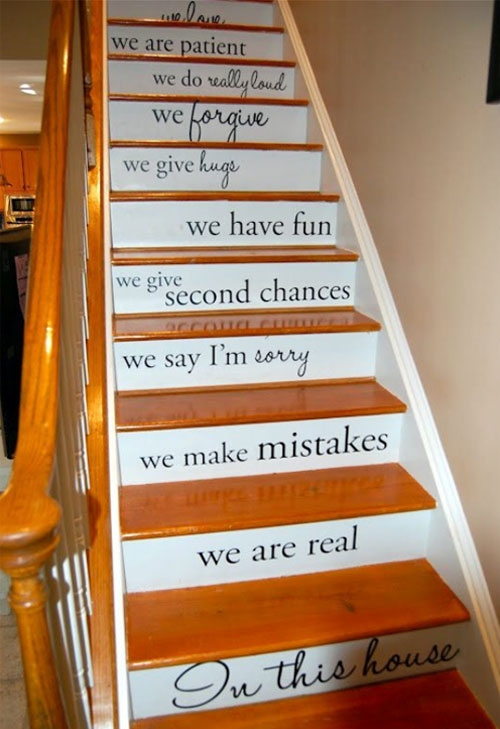 Pics Photos Staircase Ideas Favorite Quote Painted On
