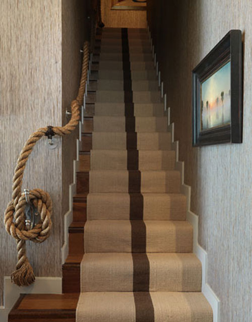 Staircase ideas creative ways to add style - Corde decorative ...