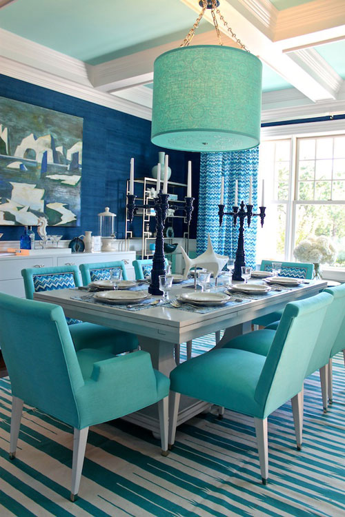 Teal Dining Room Ideas Part - 24: Turquoise Room: Dining Room