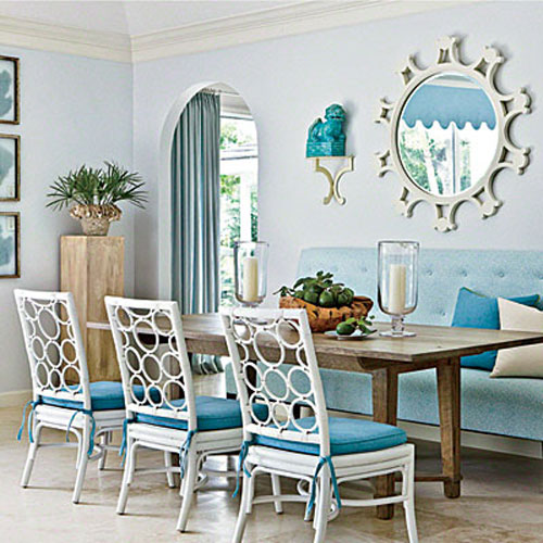 Blue Dining Room Decoration: Blue Rooms: Tour A Florida Home With Enduring Charm