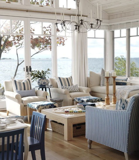 Decorating styles american coastal style for Coastal cottage style homes