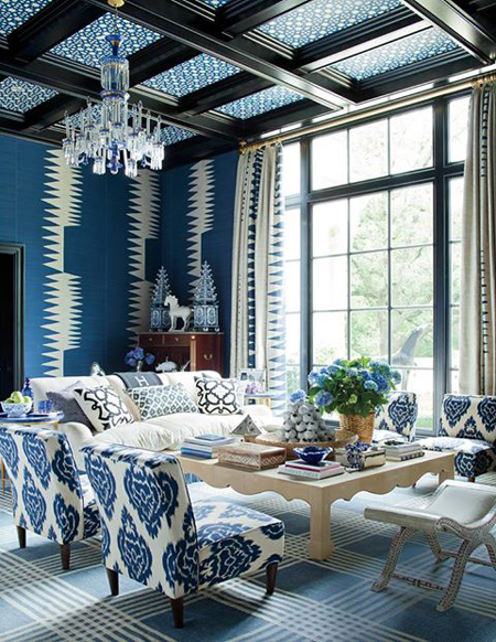 Wallpapered Ceilings: 10 Fabulous Design Ideas | Decorating Files | www.decoratingfiles.com