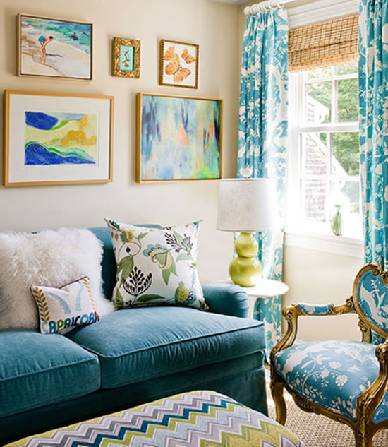 Colorful Beach Condo Makeover: Colorful Couches And Tips From Top Interior Designers