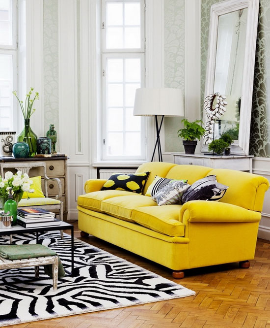 Colorful Couches And Tips From Top Interior Designers