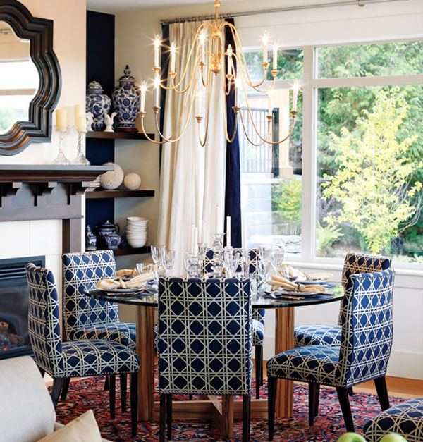 interesting navy blue and white dining room. Blue Dining Room  12 Ideas for Inspiration Decorating Files decoratingfiles com