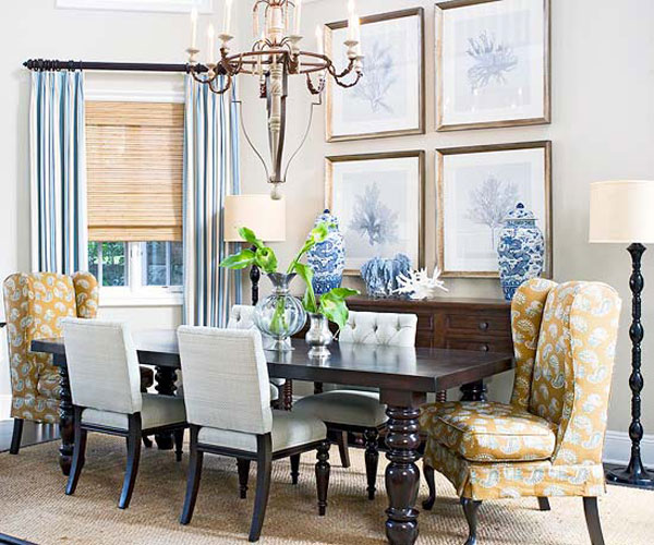 Blue dining room 12 ideas for inspiration for Dining room inspiration