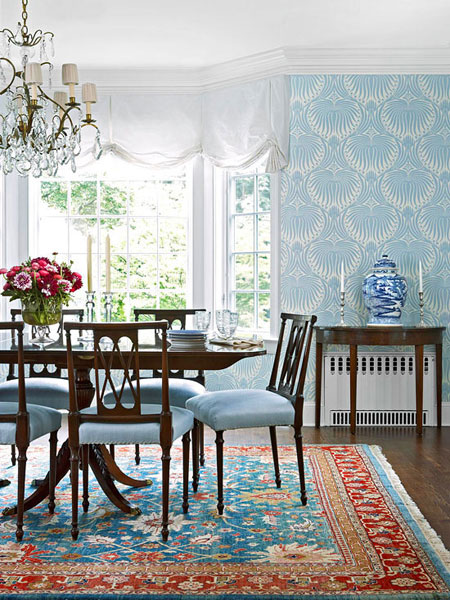 Blue dining room 12 ideas for inspiration for Dining room ideas in blue